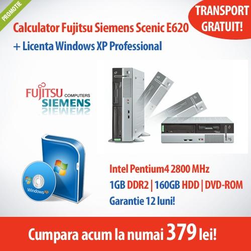 Cumpara acum calculatorul Fujitsu Siemens Scenic E620, cu procesor Intel Pentium 4 + Licenta Windows XP Professional, la numai 379 lei!  Ai garantie 12 luni si transportul GRATUIT!
