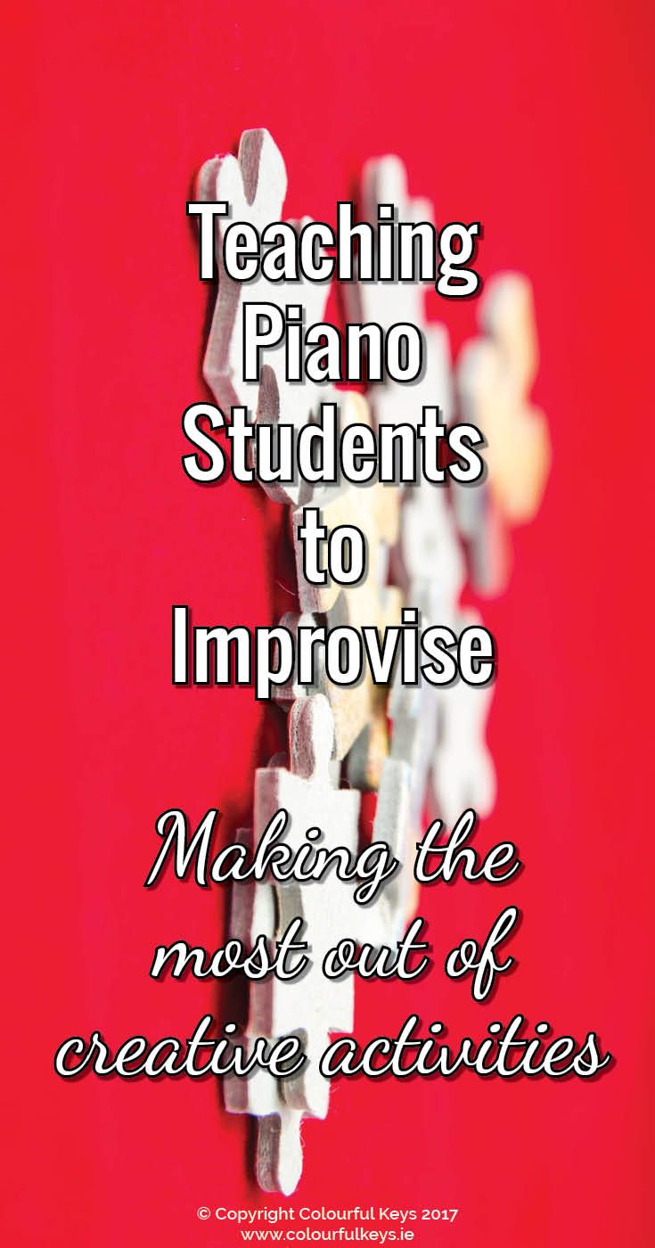 How to use improvisation as a piano teaching aid and save yourself some lesson time. http://colourfulkeys.ie/big-secret-teaching-improvisation-piano-lessons/