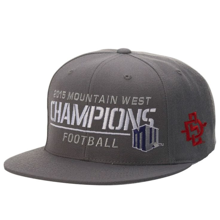 San Diego State Aztecs Top of the World 2015 Mountain West Conference Football Champions Locker Room Snapback Adjustable Hat - Gray