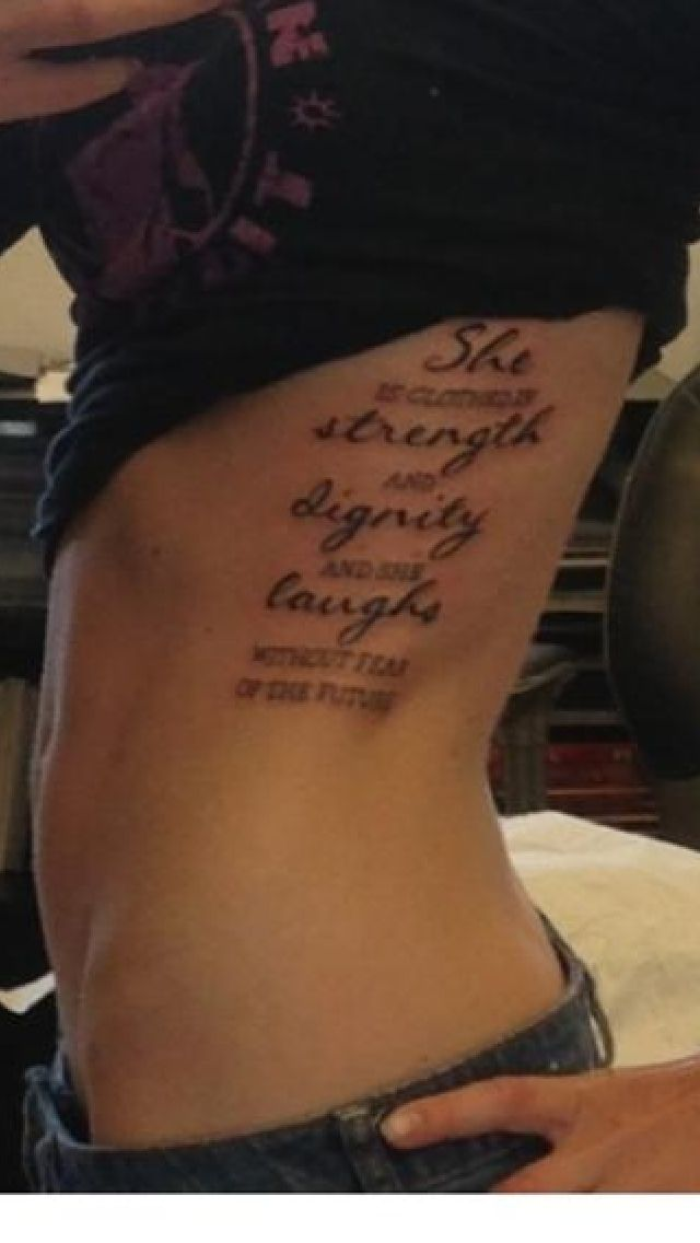 Pinterest the world s catalog of ideas for She is clothed in strength and dignity tattoo
