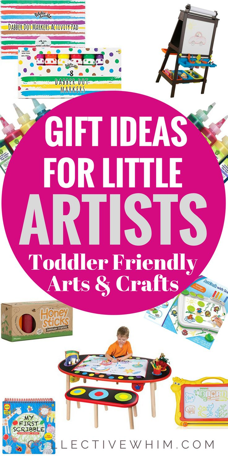 Arts supplies, kits and more just for little artists. Toddler boys, Toddler Girls, Gift Ideas Toddler, Toddler Gift Ideas, Gifts for toddler boy, gifts for toddler girl, christmas gifts for toddlers, arts & crafts for kids, non-toxic art supplies, non-toxic crayons, non-toxic paint, edible paint for babies, toddler gift guide.