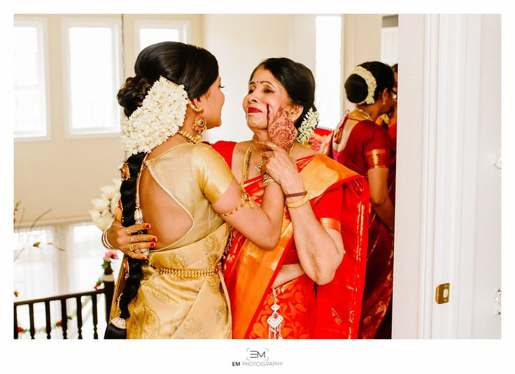 South Indian bride. Temple jewelry. Jhumkis.Gold silk kanchipuram sari.Braid with fresh flowers. Tamil bride. Telugu bride. Kannada bride. Hindu bride. Malayalee bride.Kerala bride.South Indian wedding.