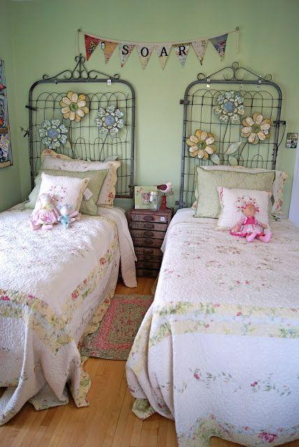 61 best diy headboards images on pinterest diy for Diy shabby chic bedroom ideas