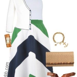 Plus Size Chevron Skirt Outfit - Plus Size Fashion - alexawebb.con