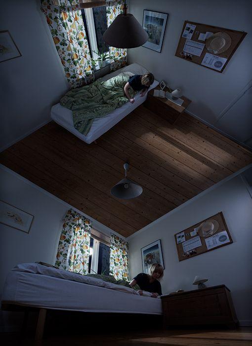 Visual Paradoxes- By  Erik Johansson  http://askepticaldesigners.wordpress.com/2012/07/02/just-an-illusion-47/