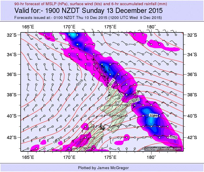 Metvuw Weather Forecast South Island