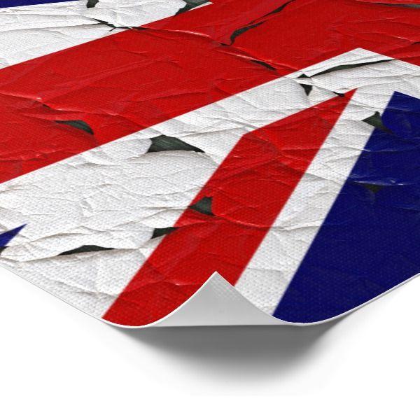 Oude Vlag van het Verenigd Koninkrijk Poster