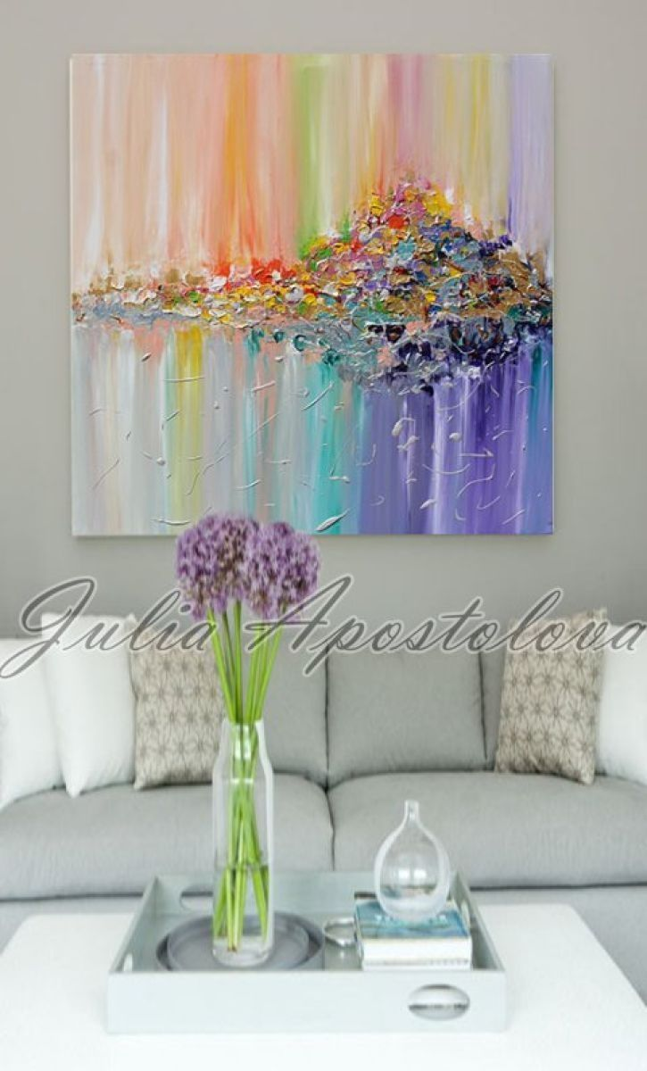 ... Modern Painting, Hand Painted, Ready To Hang, Rich Texture, Palette  Knife, Contemporary, Canvas Art, Multicolored, Floral, Zen, Modern Wall  Decor U0027u0027 ... Part 76