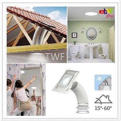 Tageslicht-Spots VELUX TWF 014 2010 mit flexiblem Rohr incl. Eindeckrahmen