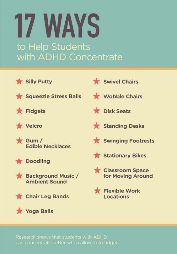 Great ideas for letting students quietly fidget.   Edutopia