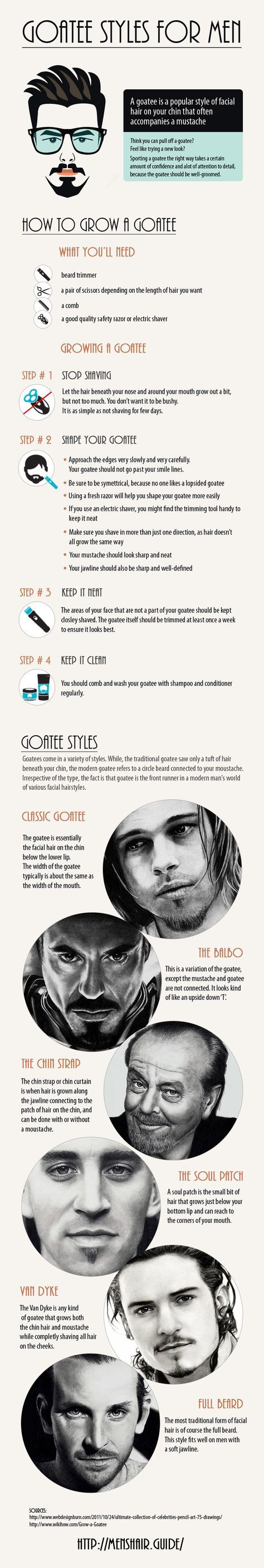 How to shape a goatee beard - Do you fancy an infographic?  There are a lot of them online, but if you want your own please visit http://www.linfografico.com/prezzi/  Online girano molte infografiche, se ne vuoi realizzare una tutta tua visita http://www.linfografico.com/prezzi/
