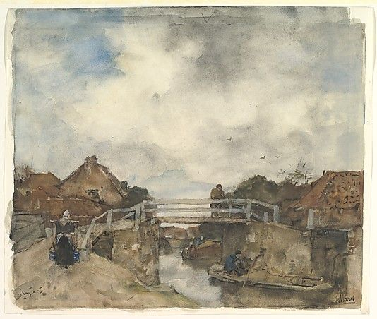 Dutch Canal, Rijswijk, The Netherlands, Jacob Maris