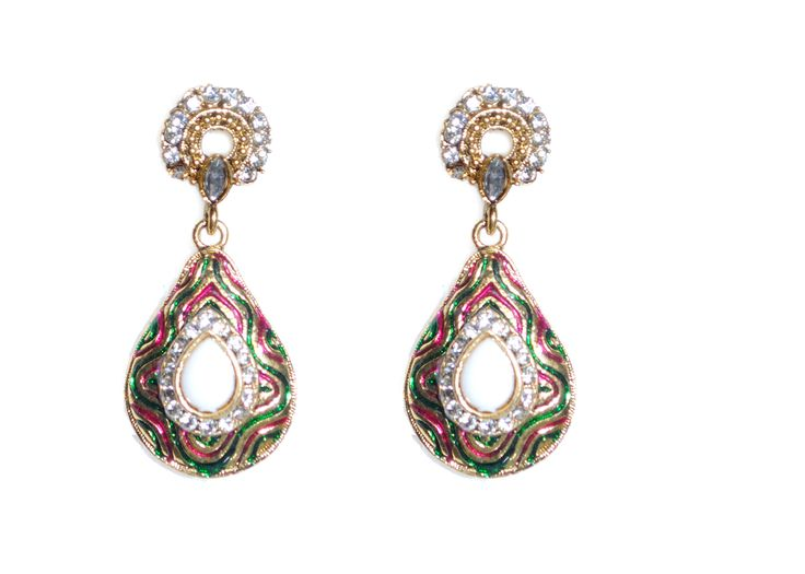 teardrop shape traditional earrings