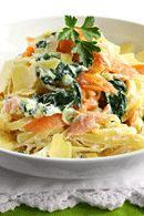 Healthy Dinner Recipes: Smoked Salmon Linguine. #HealthyRecipes #DietRecipes #WeightlossRecipes weightloss.com.au
