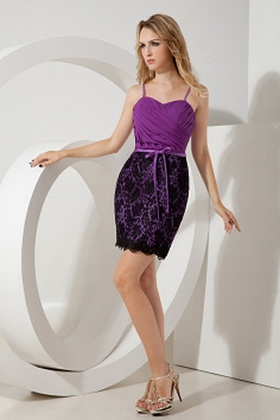 Sheath-Column Chiffon Romantic Graduation Gowns wr0947 - http://www.weddingrobe.co.uk/sheath-column-chiffon-romantic-graduation-gowns-wr0947.html - NECKLINE: Spaghetti Strap. FABRIC: Chiffon. SLEEVE: Sleeveless. COLOR: Purple. SILHOUETTE: Sheath/Column. -