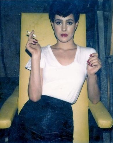 Sean Young, Blade Runner, 1982 (Set Polaroid) (Just a tiny bit obsessed with Blade Runner right now.)