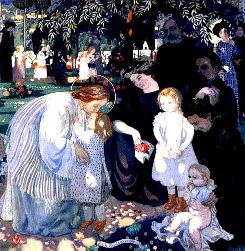 'LAISSEZ VENIR A MOI Les Enfants', öl von Denis Maurice (1870-1943, France)