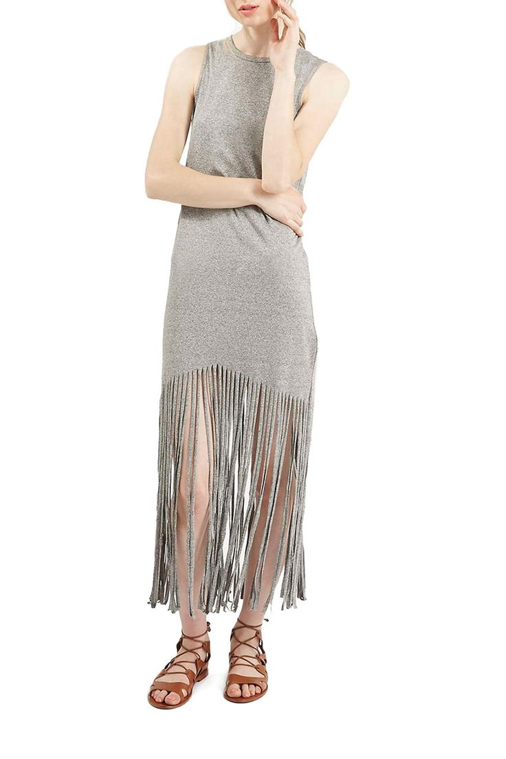 Topshop Fringe Hem Tank Dress ($52) // Shop the rest of the retro-chic collection at #FASHIONxHudsonsBay