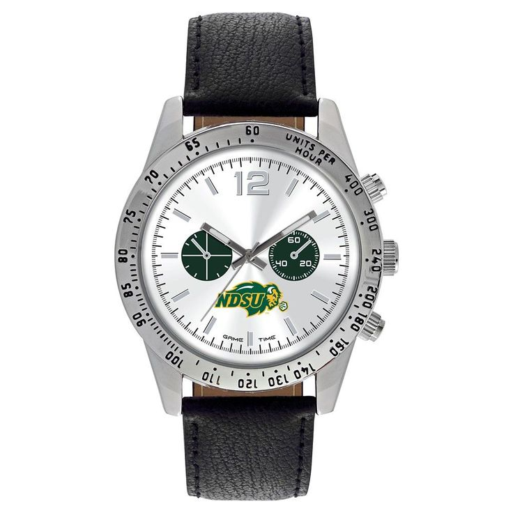 Men's Game Time NCAA Letterman Sports Watch - Black - North Dakota State Bison
