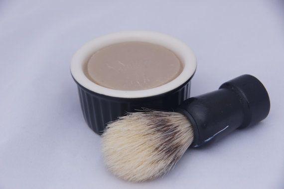 Men's Shaving Combo Creamy Shaving Puck/Puck Refill Shaving Brush Shaving Bowl Just Like the Barber Shop Great Men's Gift for a Close Shave