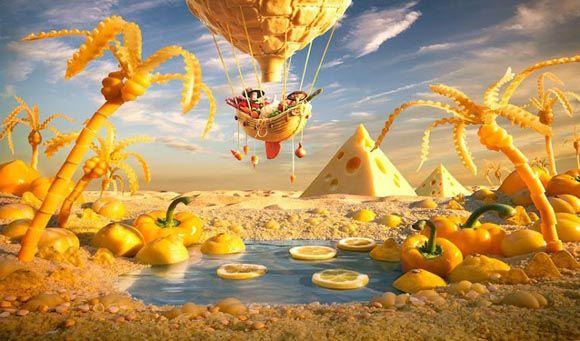 increibles paisajes hechos con comida #funfood #comidadivertida #arecetas #funny #art #arte