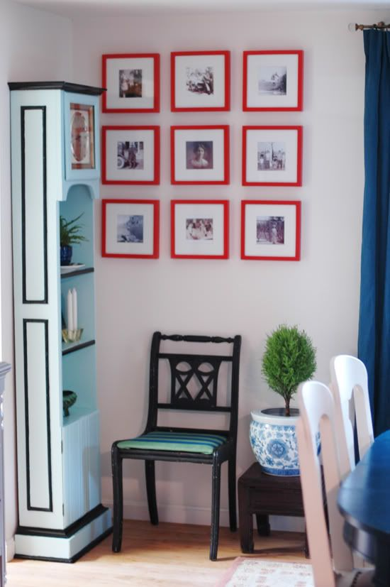 Little Green Notebook Black N White Pictures With Mats And Red Frames Interesting On The Wall Pinterest Frame Decor Room