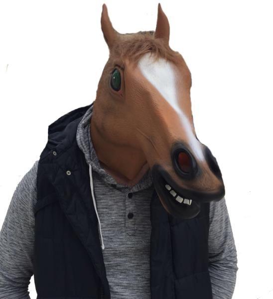 Lateks At Maskesi At Kafası Başlığı
