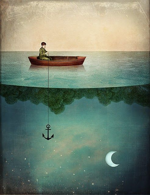 You fished for the moon, darling. And you found it. {Catrin Welz-Stein: Entering Dreamland}