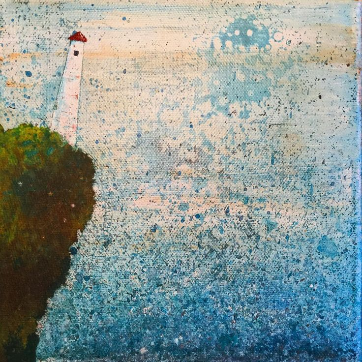 Light-house #painting #mixedmedia #annasagok #annabies #art