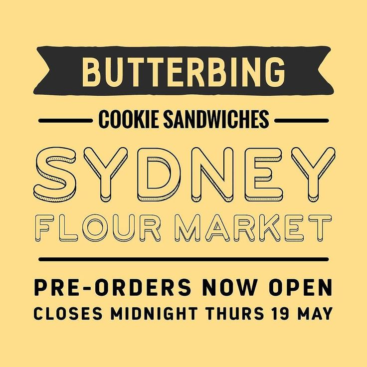 We will be at Sydney's Flour Market this coming Sunday. Pre-orders are now open. To place an order please head to http://ift.tt/1TYzP8a fill-out out our order form select Flour Market as pick up and pay by credit card.  We're loading the van with a mountain of cookies for the day but we won't be back until August so make sure you get your Butterbing fix!