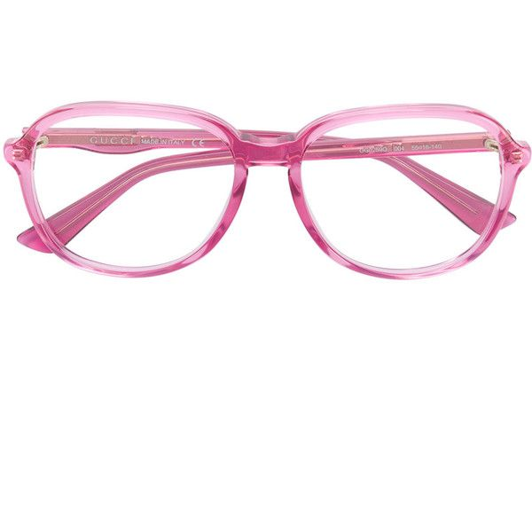 6d5fcedc3d Gucci Eyewear round oversized glasses ( 252) ❤ liked on Polyvore featuring  accessories