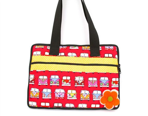 Funky Laptop Bags  padded laptop bag  Vw by GlobalGrooveLife, $34.00