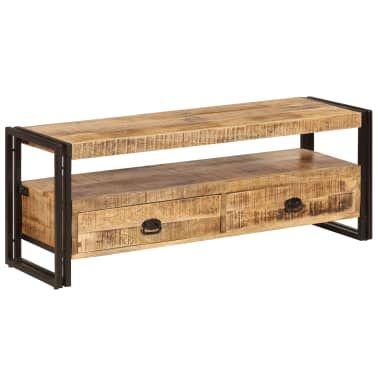 TV stolek 120 x 35 x 45 cm masivní mangovníkové dřevo in