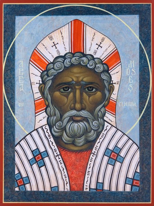 St. Moses the Ethiopian.  Icon, Michael Kapeluck
