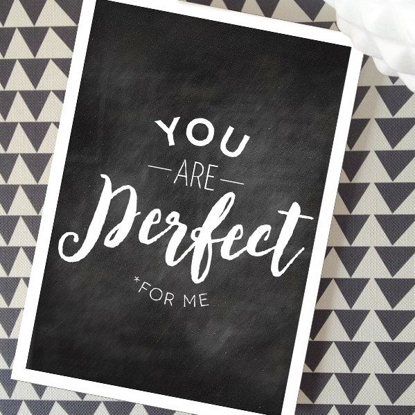 YOU are Perfect *for me Valentines Day Greeting Card by MediaFreedom on Etsy