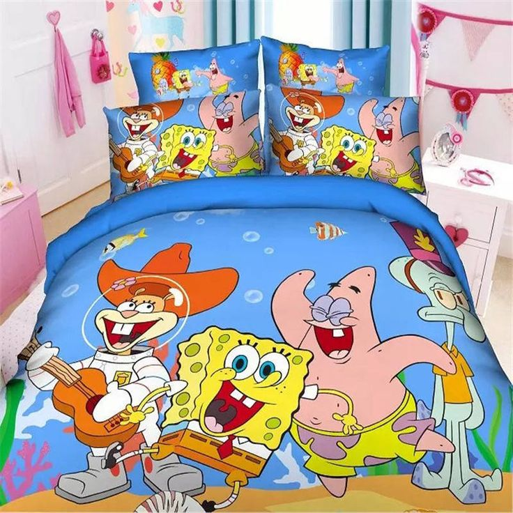 Home Textiles Spongebob cartoon style bedding set cover bed Girls Kid 2018 New #Unbranded
