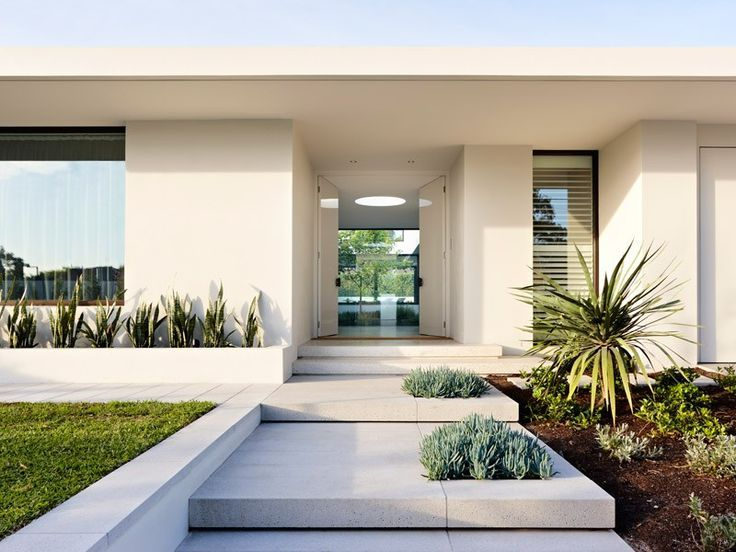30 Modern Entrance Design Ideas For Your Home Arch Landscape In 2019 House Facade Front Yard