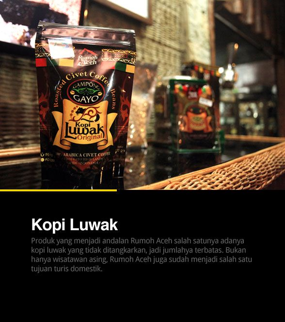 Coffe Luwak, Aceh, Indonesia, the most expensive coffee in the world