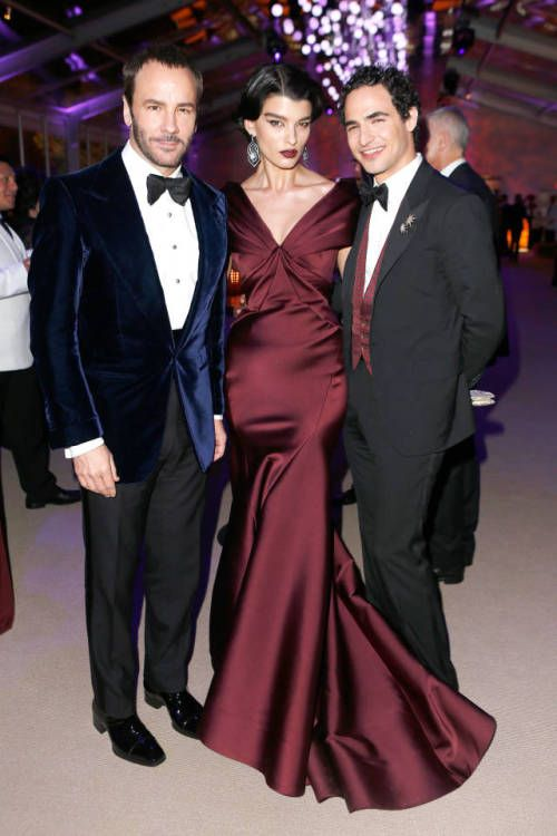 Tom Ford, Crystal Renn and Zac Posen at the Vanity Fair Oscar Party, 2014