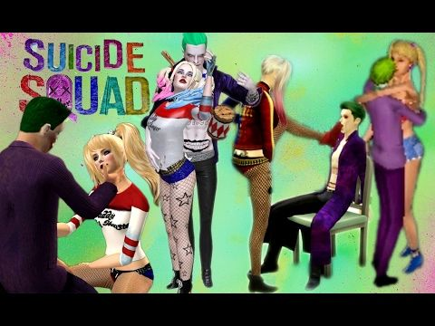 Sims 1 vs Sims 2 vs Sims 3 vs Sims 4 Harley Quinn and Joker & Suicide Squad - YouTube