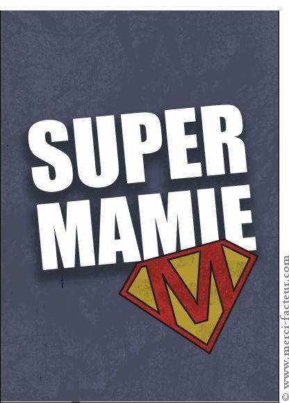 Carte Le M de Super Mamie pour envoyer par La Poste, sur Merci-Facteur ! #carte #Fêtedesgrandsmères
