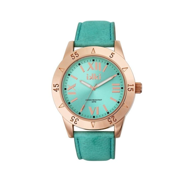 IKKI Julie Aqua Blue/Rose gold horloge JU-43