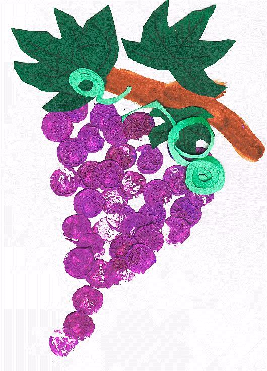 Grappe de raisin d'automne réalisée au bouchon