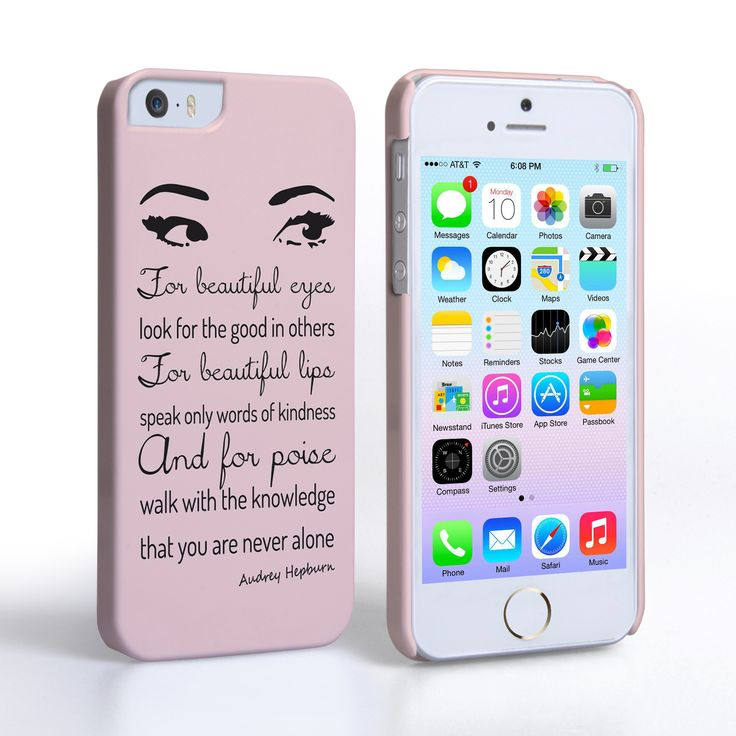 Buy A Caseflex IPhone Audrey Hepburn Eyes Quote Case From Mobile Madhouse
