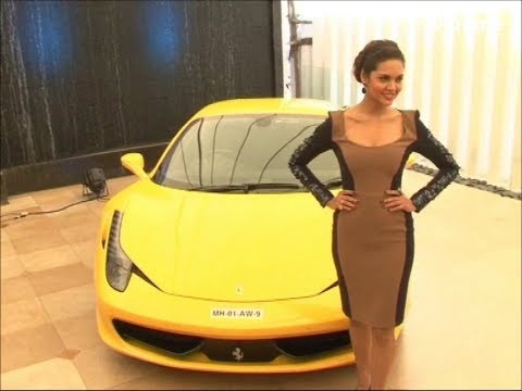 Esha Gupta at the launch of the show SUPERCARS season 2.