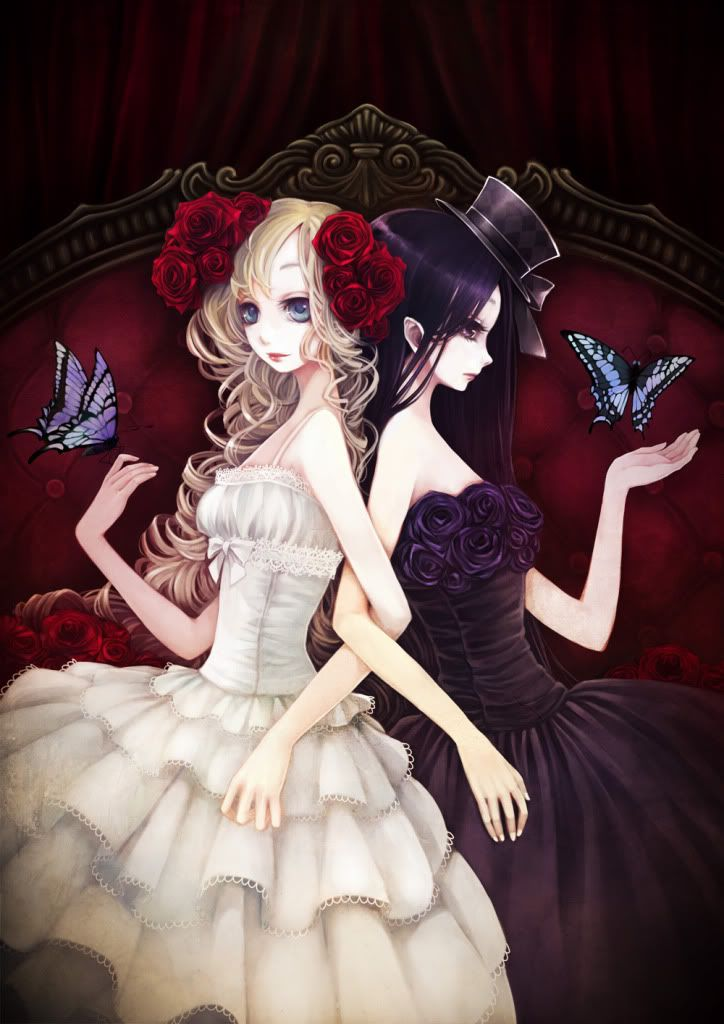 Good girl and her evil twin | Anime Girls | Pinterest ...