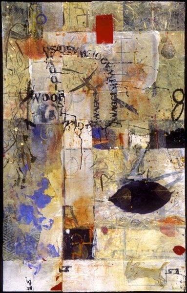 Encaustic Artist Mary Black - Encaustic Art Mixed Media on Paper - Waggish