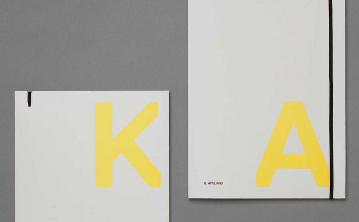 Visual identity and folder by Norwegian graphic design studio Bielke&Yang for engineering consultancy K Apeland