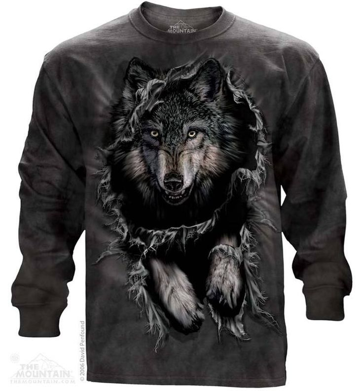 Breakthrough Wolf Long Sleeve Tee - Womens Clothing - - Women T-Shirt - T-Shirts for women - Mens Clothing - Mens t-shirts - t-shirt for men - Unisex T-Shirts - Cotton T-Shirts - Long Sleeve T-Shirts - Long Sleeve T-Shirt - Christmas Ideas - Presents for Christmas
