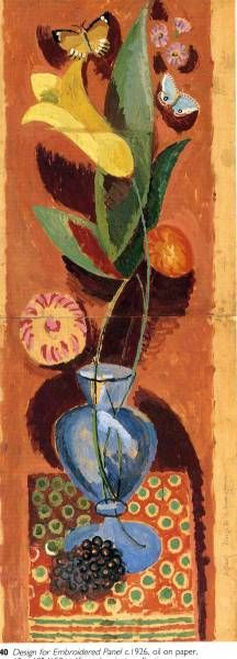 ✦ duncan grant - 'design for embroidered panel' - 1926 - oil on paper